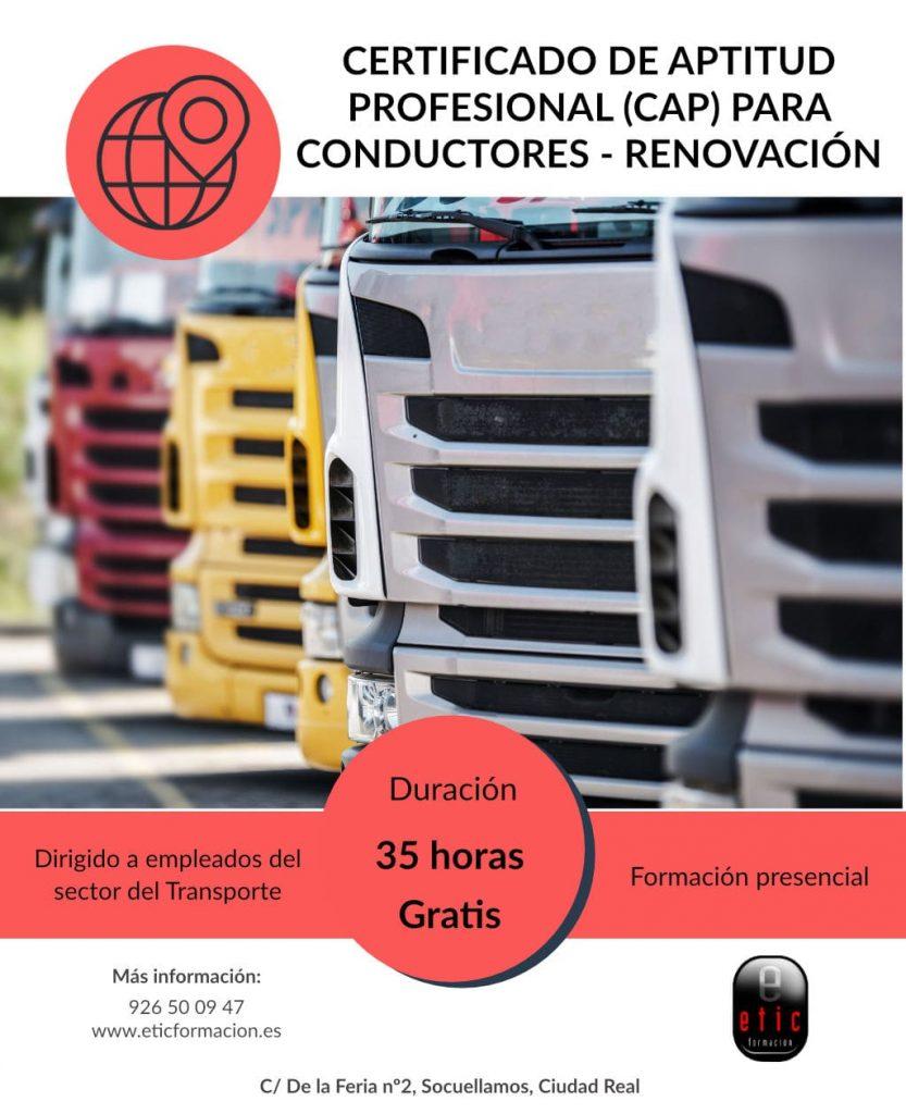 Certificado de aptitud profesional para conductores
