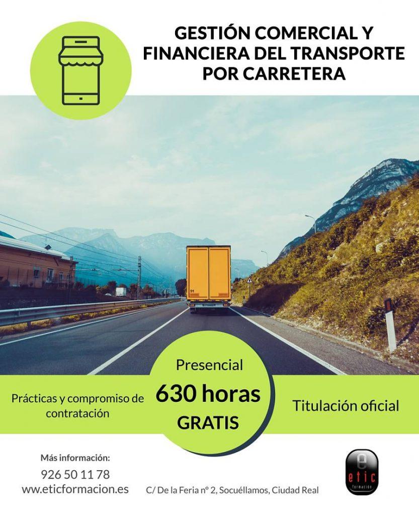 Certificado de profesionalidad de gestión comercial y financiera del transporte carretera-etic