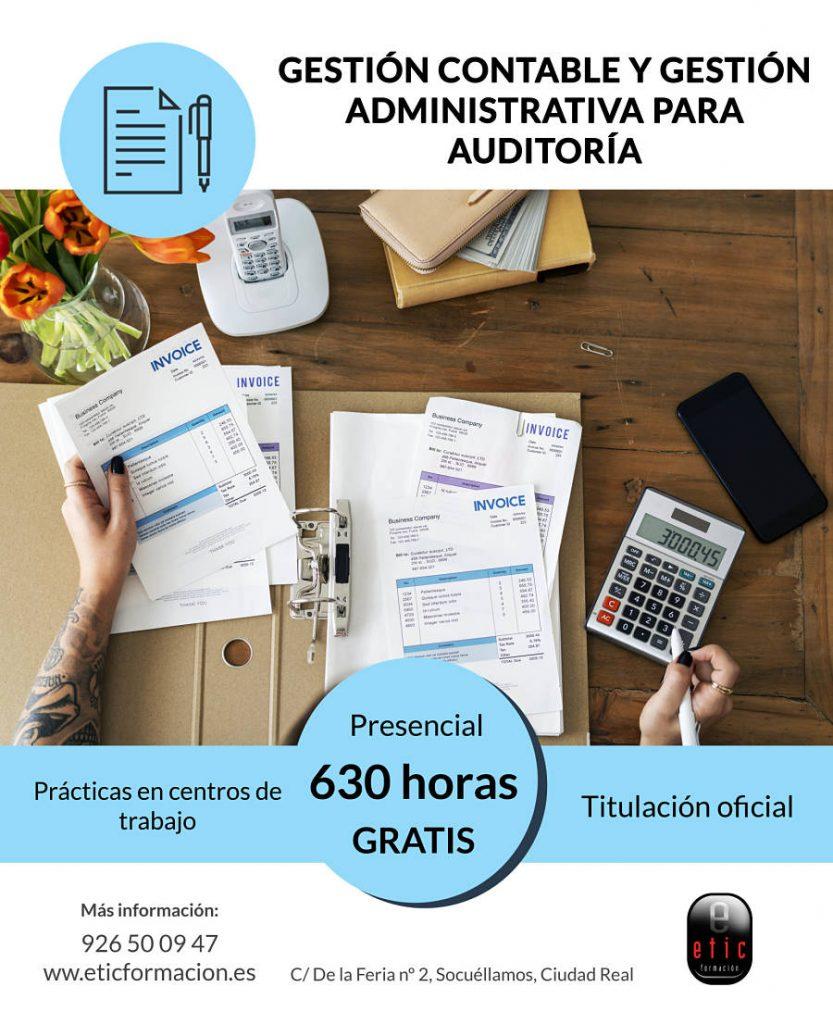 Certificado de profesionalidad de gestión contable y administrativa para auditoría