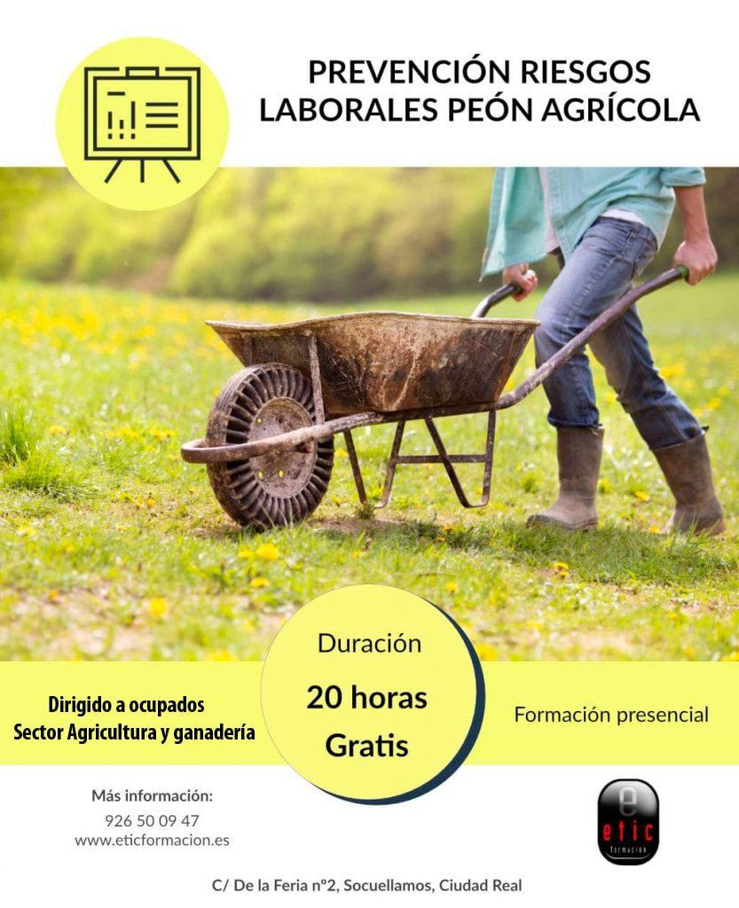 Prevención de riesgos laborales peón agrícola
