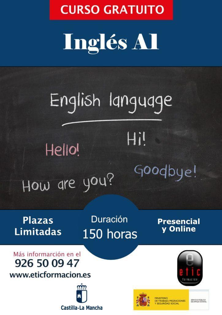 Cartel curso Inglés A1 en Etic Formación