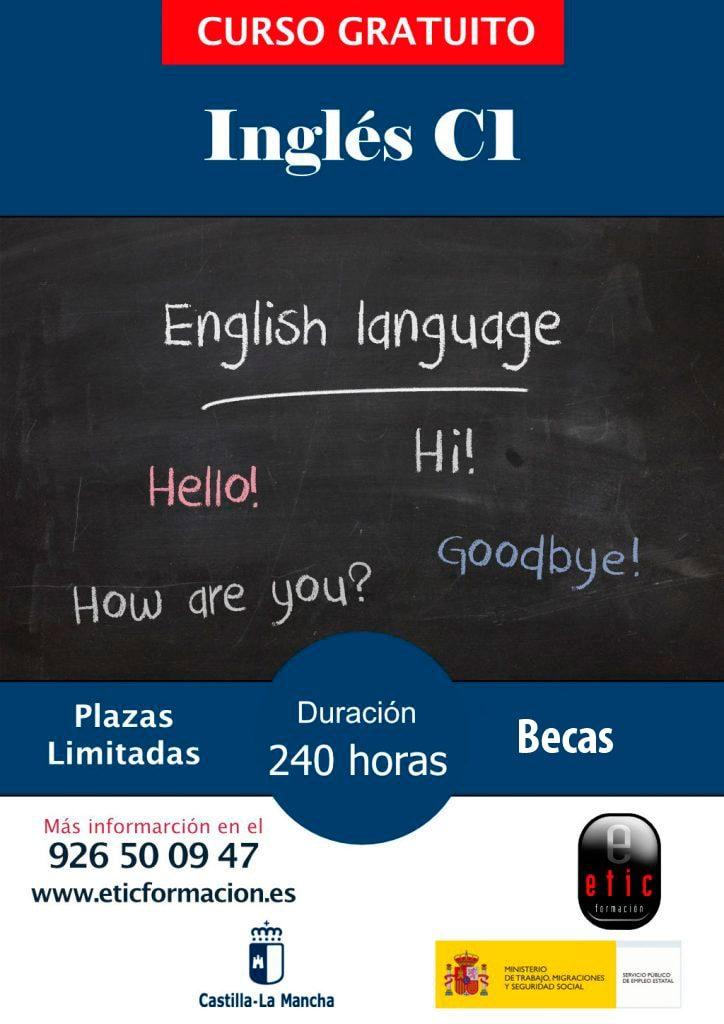 Cartel curso Inglés C1 en Etic Formación