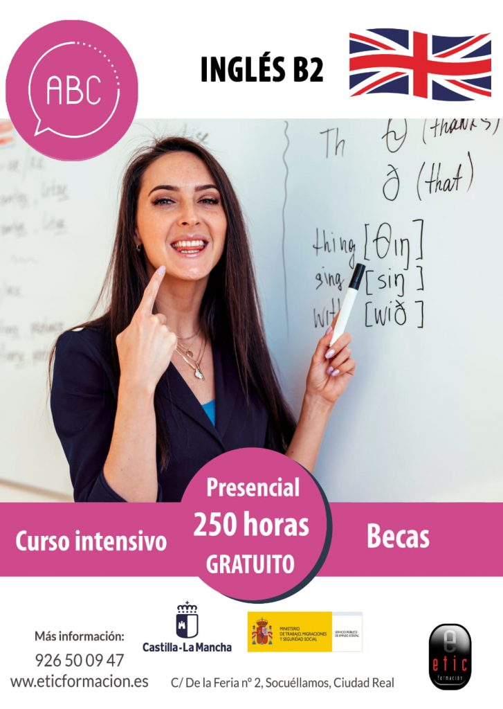 Curso de Inglés B2 en Socuellamos